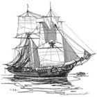 brigatine Ship Engraving