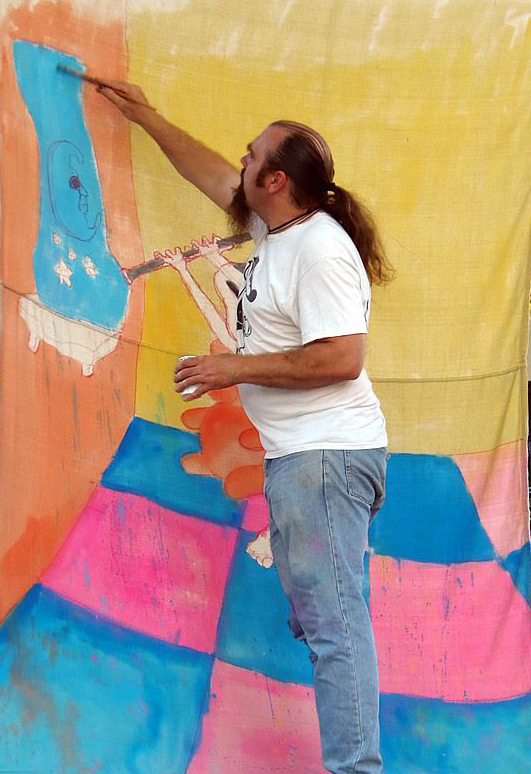 Chris Dowgin painting in Ellis Square Beverly